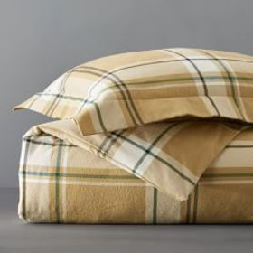 Parker Printed Flannel Duvet Cover & Shams