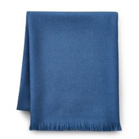 Solid Alpaca Throw, Blue