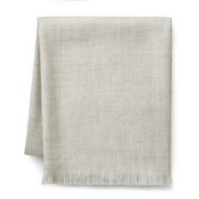 Solid Alpaca Throw, Light Grey