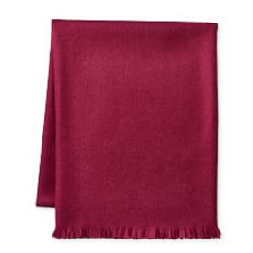 Solid Alpaca Throw, Plum