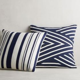 Stripe Pieced Linen Pillow Cover
