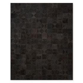 Cali Laser Cut Hide Rug, Black