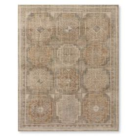 Regal Medallion Hand Knotted Rug, Grey Multi