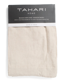 TAHARI HOME 50x96 Set Of 2 Linen Luxury Curtains