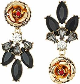 Betsey Johnson Rose Perfect Non-Matching Earrings
