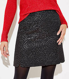 Petite Shimmer Jacquard Shift Skirt
