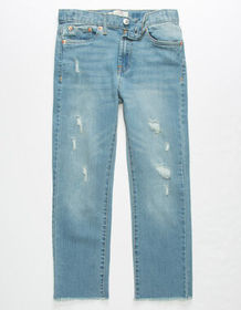 LEVI'S High Rise Ankle Ripped Medium Wash Girls Sk