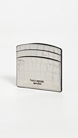 Kate Spade New York Sylvia Croc Embossed Card Hold