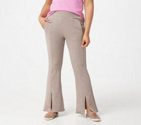 Peace Love World Pintuck Pull-On Pants with Front