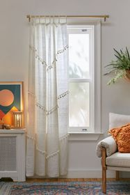 Greta Fringed Window Panel