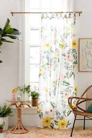 Tropical Floral Window Panel