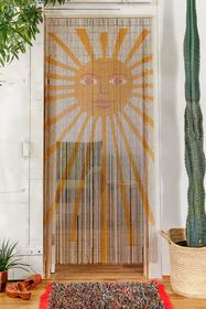 Sun Bamboo Beaded Curtain