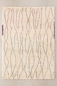 Diamond Lines Shag Rug