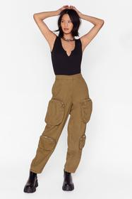 Nasty Gal Olive And They Have Pockets Utility Pant