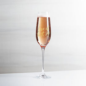 Crate Barrel Love at First Sip Champagne Glass