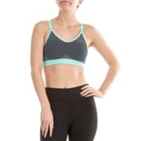 RYKA Solid Stripped T Back Sports Bra