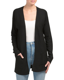 EXPRESS 2pkt Solid Ribbed Trim Cardigan Sweater