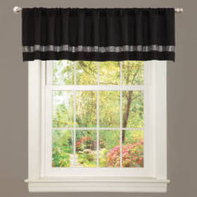 Lush Décor® Night Sky Black/Grey Valance - 84x18