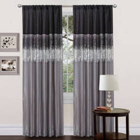 Lush Décor® Night Sky Black/Grey Window Curtain