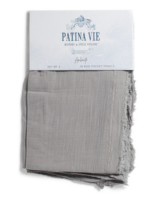 PATINA VIE 48x84 Set Of 2 Cotton Frayed Edge Curta