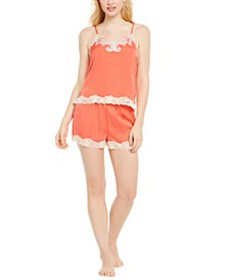 INC Antique-Look Lace Woven Top and Pajama Shorts