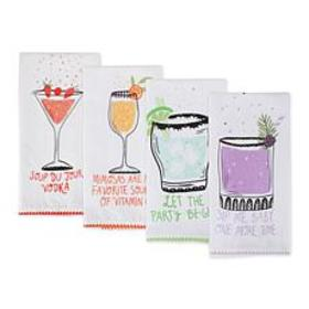 Design Imports Sassy Cocktails Printed Kitchen Tow