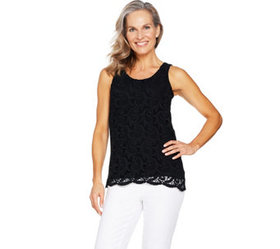 """""""As Is"""" Kelly by Clinton Kelly Sleeveless Lace Fro"""