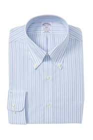 Brooks Brothers Striped Broadcloth Regent Fitted F