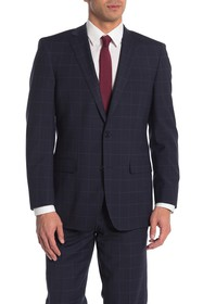 Brooks Brothers Blue Plaid Two Button Notch Lapel