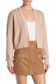 Free People Moon River Cropped Cardigan