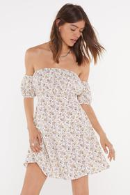 Nasty Gal White Got It Growing On Floral Off-the-S