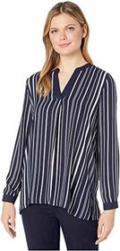 Vince Camuto Long Sleeve Plain View Stripe Split-N