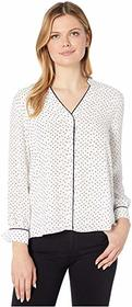 Vince Camuto Long Sleeve Ditsy Fragments Button-Do