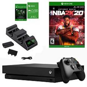 Xbox One X with NBA 2K20 and Dual Charger