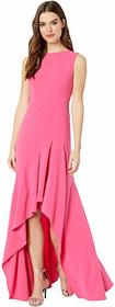 Halston Boatneck Crepe Gown