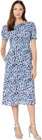 Vince Camuto Printed Scuba Crepe Fit-and-Flare Dre