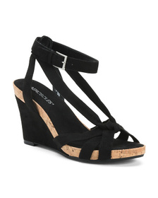 AEROSOLES Comfort Strappy High Wedge Sandals