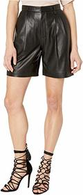 RED VALENTINO Nappa Leather Shorts