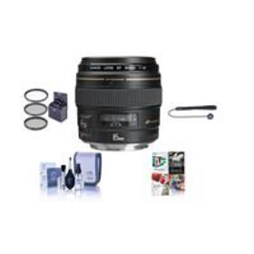 Canon EF 85mm f/1.8 USM with Free Accessory Bundle