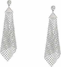 GUESS Crystal Mesh Drop Earrings
