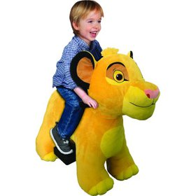 Lion King 6 Volt Cub Simba Plush Ride On by Dynacr