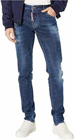 DSQUARED2 Yellow Spots Broken Wash Slim Jeans in B