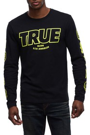 True Religion Graphic Print Long Sleeve T-Shirt