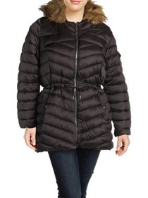 Jessica Simpson Womens Plus Water Resistant Faux F