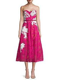 Floral Lace Dress FUCHSIA