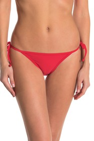 KENDALL AND KYLIE Solid Side Tie Bikini Bottoms