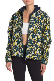 Outdoor Voices Floral Hooded Zip Jacket