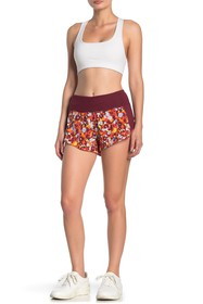 Outdoor Voices Floral Panel Colorblock Shorts