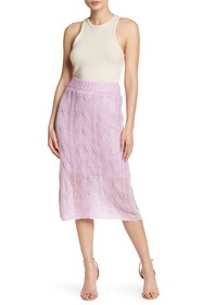 KENDALL AND KYLIE Cable Knit Skirt