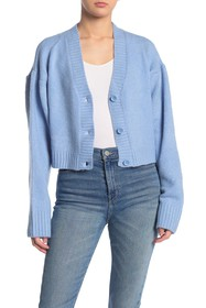 KENDALL AND KYLIE Cropped Knit Cardigan